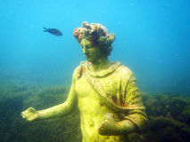 Underwater site. The famous underwater archaeological site of baia in italy stock images