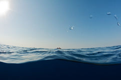 Between underwater and sky. Stock Photography