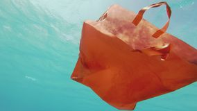 Plastic Waste Shopping Bag Polluting The Ocean