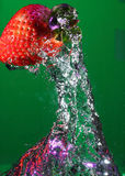 Underwater Strawberry Royalty Free Stock Photo