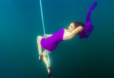 Underwater striptease Royalty Free Stock Photo