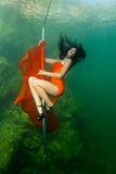 Underwater striptease Stock Photography
