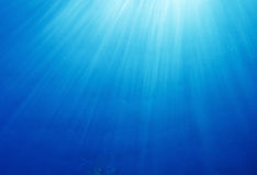 Underwater Sun Rays Royalty Free Stock Images