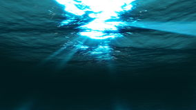 Underwater sunbeam and starglows on surface seamless LOOP, stock footage. Video stock video footage