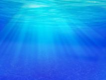 Underwater Sunlight Stock Photo