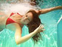 Underwater swim Stock Photo