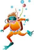 Underwater swimmer Royalty Free Stock Photo
