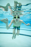 Underwater swimming Royalty Free Stock Photos