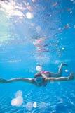 Underwater swimming Stock Photos