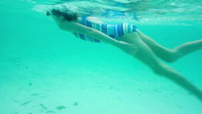 Underwater swimming Royalty Free Stock Photography