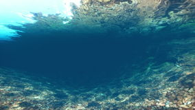 Underwater swimming River Bed, Camera Flying. Underwater swimming River Bed Camera Flying, video footage stock footage