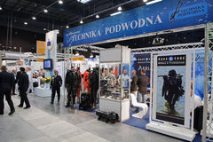 Underwater technology. Dive gear and other underwater technology on the Balt Military Expo/Rescue 2012 in Gdansk, Poland Royalty Free Stock Photos