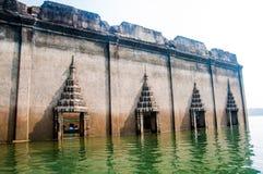 Underwater Temple, SangkhlaBuri, Kanchanaburi, Thailand Stock Photos