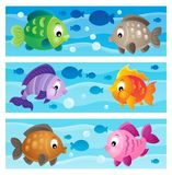 Underwater theme banners 1 Stock Images