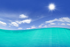 Underwater To Blue Sky Stock Photography