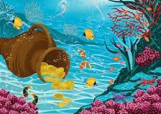 Underwater treasure Stock Images