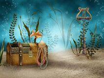 Underwater treasures Royalty Free Stock Images