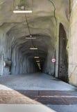 Underwater Tunnel entrance. Deep long modern wide underwater tunnel entrance royalty free stock image