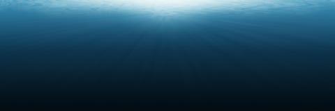 underwater vazio horizontal para o fundo e o projeto Imagem de Stock Royalty Free