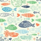 Underwater vector abstract background. Colorful summer design. Underwater vector abstract background, tropical sea fish seamless pattern. Colorful summer design Royalty Free Illustration