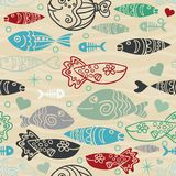 Underwater vector abstract background. Colorful summer design. Underwater vector abstract background, tropical sea fish seamless pattern. Colorful summer design Vector Illustration