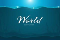 Underwater vector cartoon comic art background Royalty Free Stock Photography