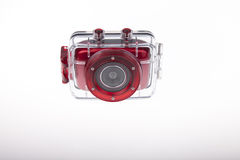 Underwater video camera waterproof case Stock Image