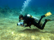 Underwater Videographer Stock Photography