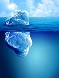 Underwater view of iceberg Royalty Free Stock Image