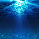 Underwater view with sandy seabed Royalty Free Stock Image