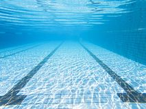 Underwater view of the swimming pool Royalty Free Stock Images