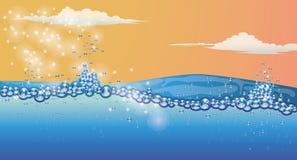 Underwater  wallpaper Stock Images