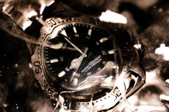 Underwater Watch. Watch under the surface of water royalty free stock photo