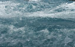 Underwater water splash waves boat window. Water splash waves boat window stock photos