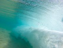 Underwater wave view in Hawaii Stock Image