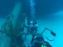 Underwater wedding video caribbean sea. Underwater diving video wedding ceremony stock video footage