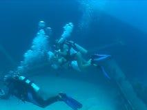 Underwater wedding video caribbean sea. Underwater diving video wedding ceremony stock video