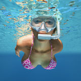 Underwater woman Royalty Free Stock Photos