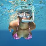 Underwater woman Royalty Free Stock Photos