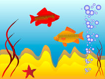 The underwater world. Of  fish Stock Images