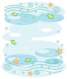 Underwater World. Background. Underwater world. Marine blue background Royalty Free Illustration