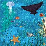 Underwater world background stock illustration