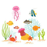 Underwater world design Royalty Free Stock Photos
