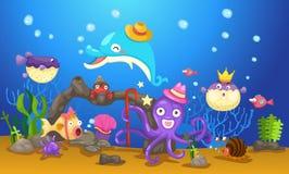 Underwater world. Illustration of  an underwater world Stock Images