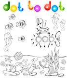 Underwater world and submarine dot to dot royalty free illustration