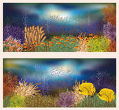 Underwater world two banners Stock Photography