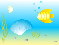 Underwater world. Vector. Stock Image