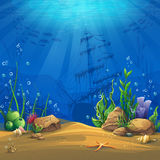 Underwater world Vector illustration background Stock Photo