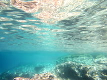 Underwater world. Underwater view from the sea Royalty Free Stock Photography