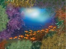 Underwater world wallpaper Stock Image